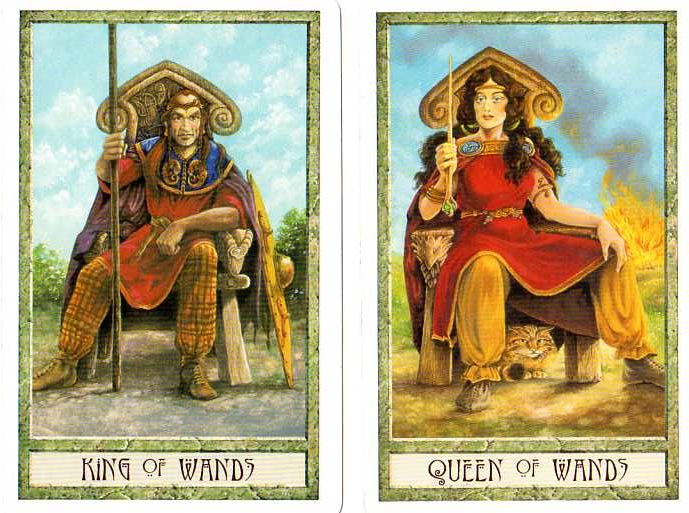 King | Queen | Wands | Druidcraft Tarot | Tarot Thrones