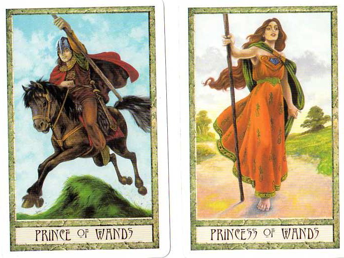 Prince | Princess | Wands | Druidcraft Tarot | Tarot Thrones