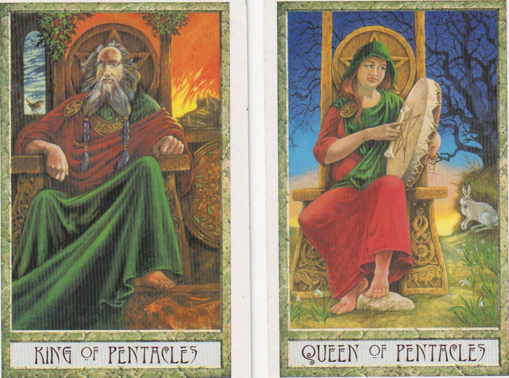 King | Queen | Pentacles | Druidcraft Tarot | Tarot Thrones