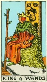 The King of Wands | Rider Waite Smith | Tarot Thrones