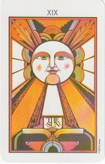 The Sun XIX | Palladini Tarot | www.tarot-thrones.com