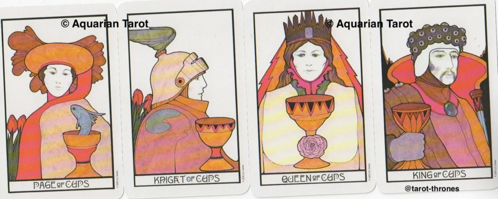 Cups Court Cards | Palladini Tarot | US Games