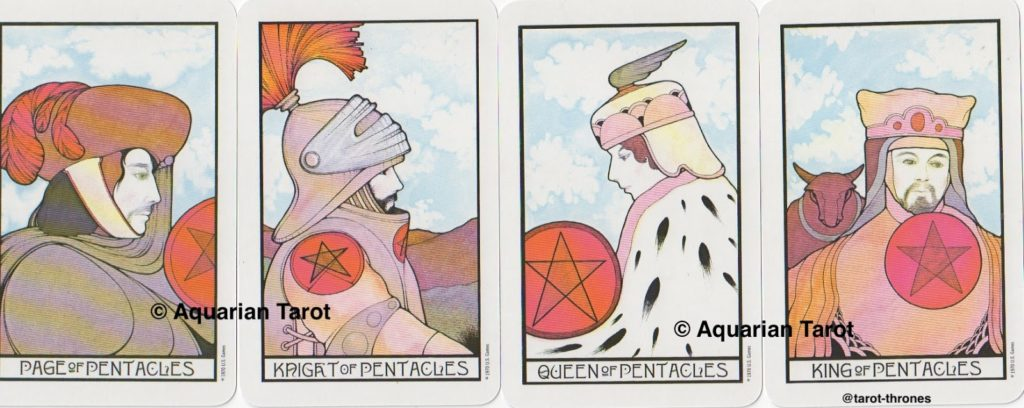 Pentacles Court Cards | Palladini Tarot