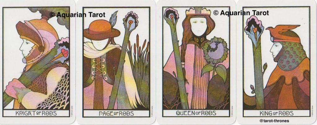 Rods (Wands) Court Cards | Palladini Tarot
