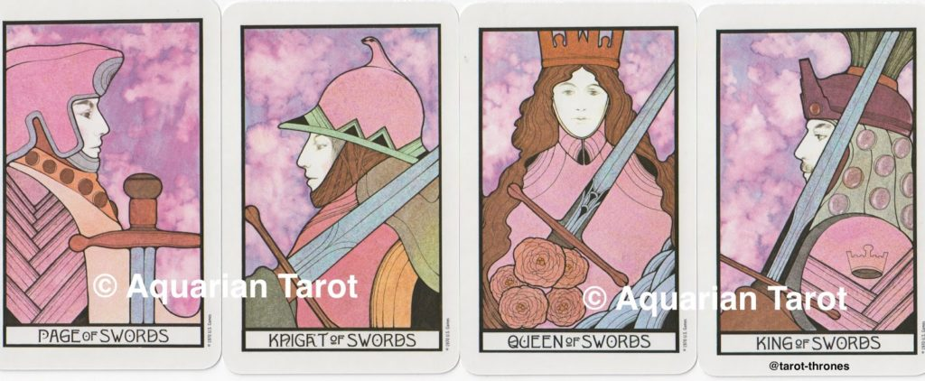 Swords Court Cards | Palladini Tarot