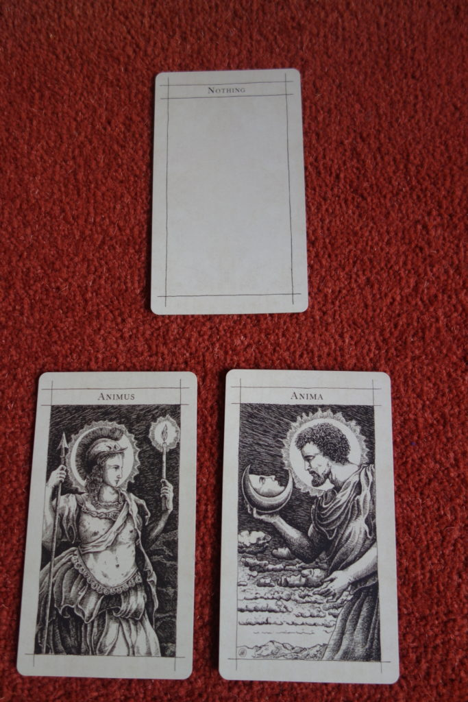 The Nothing card from The Supra Oracle, above the Anima and Animus cards.