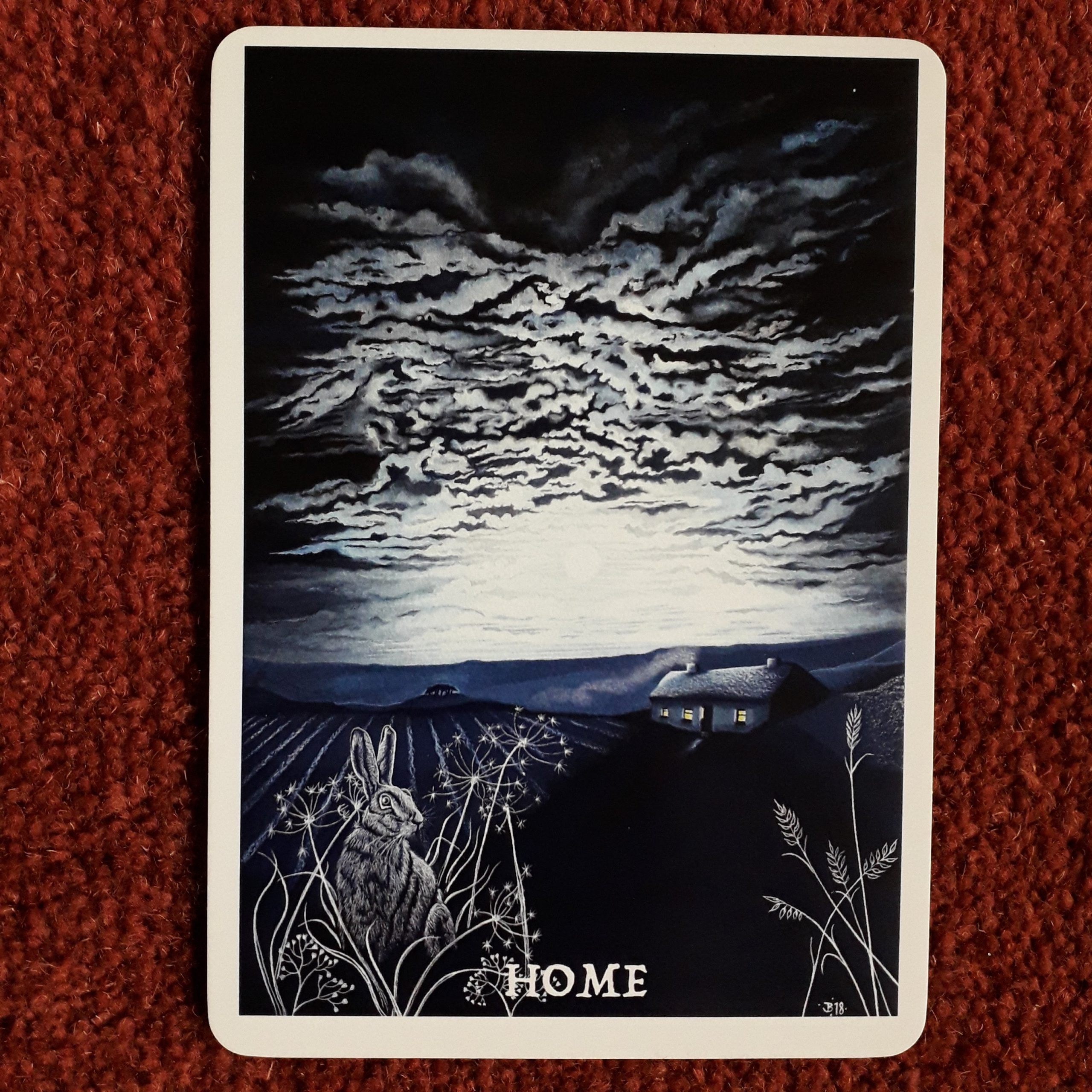 Home card from Wisdom of the Cailleach by Jane Brideson