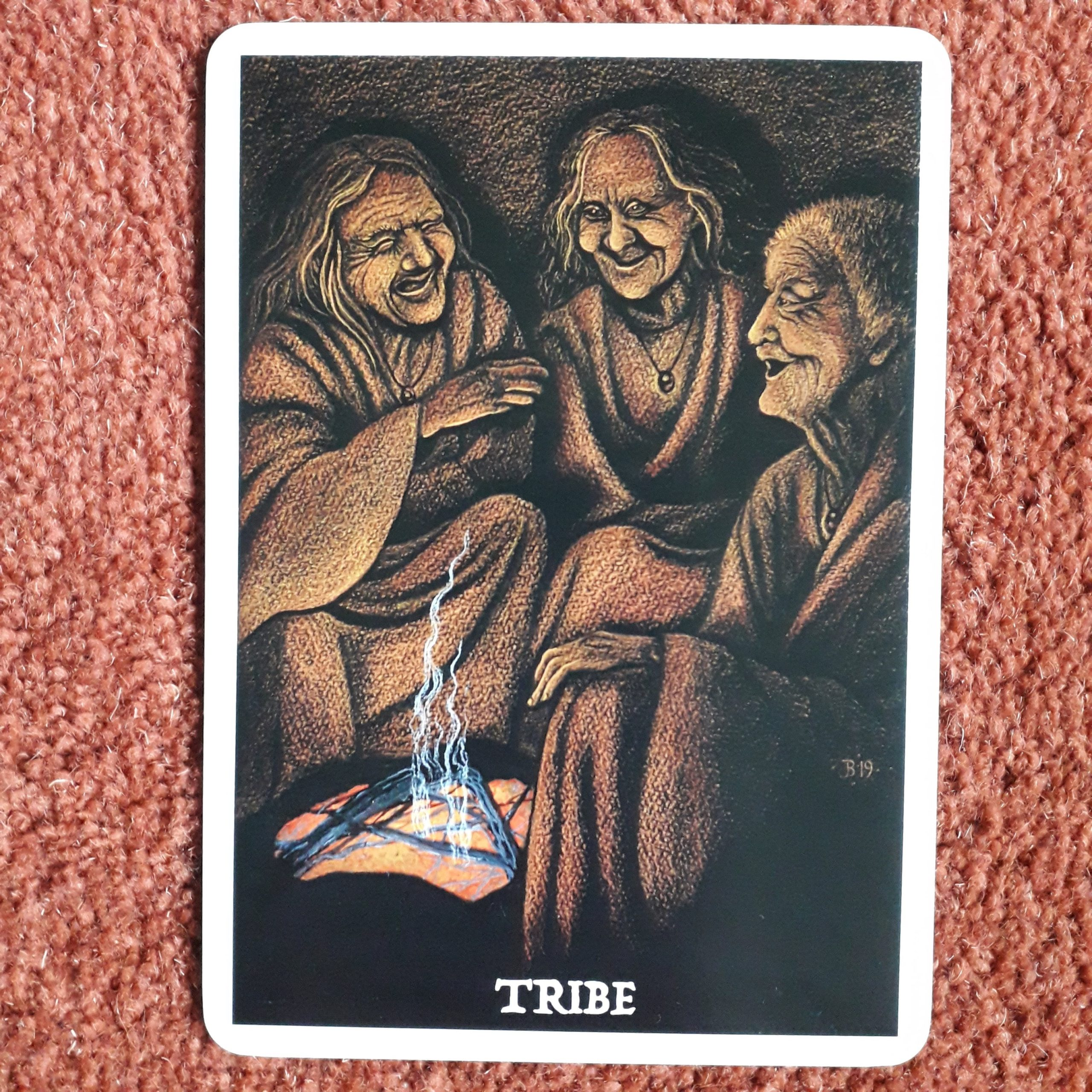 Tribe card from Wisdom of the Cailleach by Jane Brideson