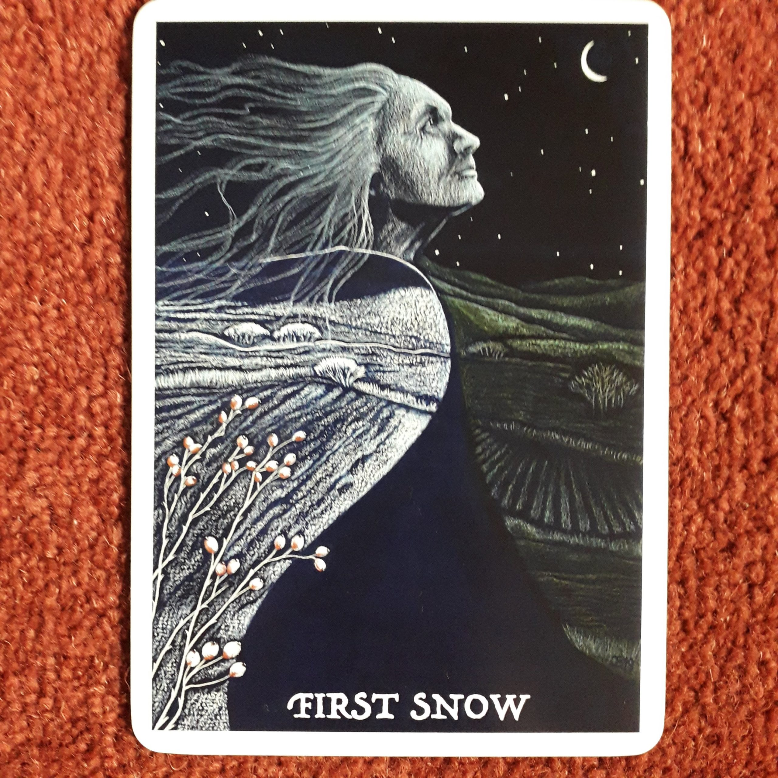 First Snow card from Wisdom of the Cailleach by Jane Brideson
