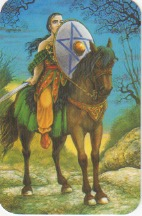 Knight of Pentacles from the Druidcraft Tarot